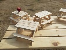 Squirrel Feeder Picnic Table - Barbie Doll Picnic Table
