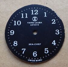 Favre Leuba SEA CHIEF Montre Cadran blanc sur noir, 28 mm.