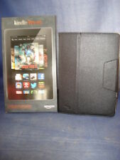 AMAZON KINDLE FIRE HD 7 - WiFi - 8GB BUNDLE W/ BLACK LEATHER CASE