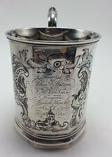 Antique Coin Silver Paneled Cup by W.S. Wood New York New York