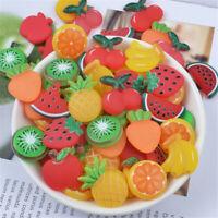10 pcs Pack Soft PVC Fruits Cabochons Flatbacks Jewellery Craft Decor Handicraft