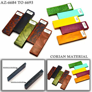 "Corian Knife  Handle Blanks Figured Exotic Corian 5"" (AZ-6684  to 6693)"