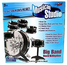 Drum Set For Kids Drums Sets Child Beginner Stool Musical Instruments Toddlers