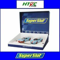 SUPERSLOT FORD GT40 WINNER LE MANS 1969 TWIN PACK GULF ICKX SCALEXTRIC H4041A