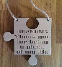 Grandma Gift Piece Of My Life Jigsaw Piece Thank You Present Keepsake