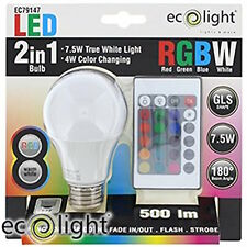 Ecolight Remote Control Colour Change LED Bulb (E27)
