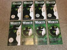 Wicked The Musical London Promo Flyers X 8. 2012 Onwards