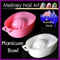 Manicure bowl Nails Tip Finger Soaker Soak off Tray Treatment Remover Spa Wash