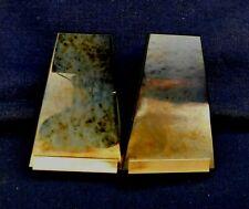 Designer Gold Plated Metal Dark Stone Slabs Manufactured Clip EARRINGS