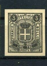 1863 Saggi Saggio Prova originale Regno Sparre lire 3