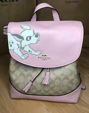Coach Disney Elle Backpack in Signature Canvas With Dalmatian
