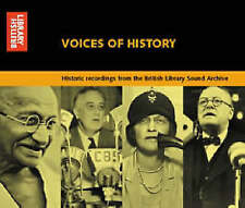 Voices of History (Spoken Word) by British Library Sound Archive CD Audio Book