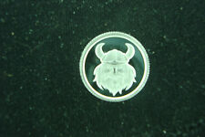 Viking with Helmet Norse 1 Gram .999 Pure Silver Round Coin Bullion