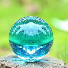 40mm Asian RARE Natural Quartz Sea Blue Magic Crystal Healing Ball Sphere Stand
