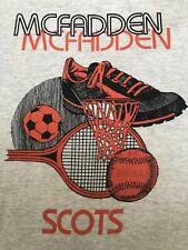 Vtg.90's Mcfadden Scots Basketball Soccer Tennis Baseball Adult Rare T-Shirt S