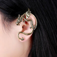 GOLD Game of Thrones Inspired Dragon Left Ear Wrap Cuff Earring-Mailed from USA