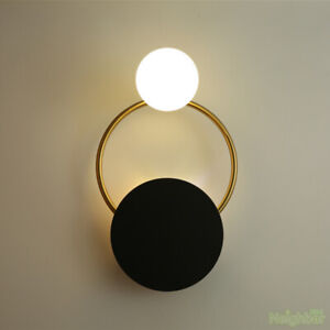Minimalist style Glass ball Wall light LED Wall sconce LED Black Wall Lamp