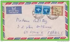 Sur Enveloppe By AIR MAIL (9,5cm x 18,5cm) - INDE - 3 timbres