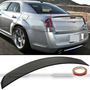 For 11-19 Chrysler 300 Factory OE Style Unpainted Trunk Lip Spoiler Rear Wing