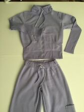 BNWOT LILAC FLEECE TRACK SUIT CRYSTALS FUNNEL NECK ZIP TOP & PANTS OUTER POCKET