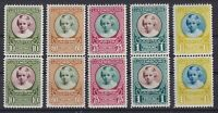 1928 LUXEMBOURG CHARITY PRINCESS MARIE ADELAIDE VERTICAL PAIR MNH SCT. B30-B34
