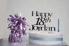 Personalised HAPPY Birthday cake topper acrylic 18th 21st 30th any AGE any NAME