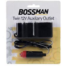 1 Metre Car Cigarette Lighter Socket to USB & 2 x 12V Outlet. LED splitter