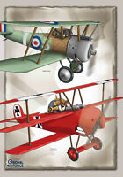 Greetings Cards, Aircraft New and Old, multiple uses blank inside, free envelope