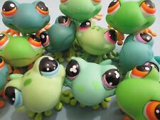 Littlest Pet Shop LPS Lot of 3 Cute RANDOM Frogs Pet Figures 100% Authentic