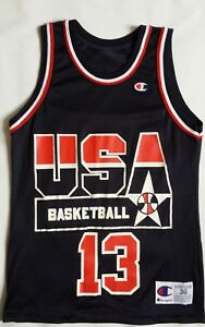 Vintage 1992 Shaquile Oneal USA Olympic Basketball Champion Jersey Size 36