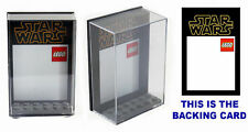 Lego Star Wars Set of 3 Plastic Display Cases - keep minifigs safe & dust free