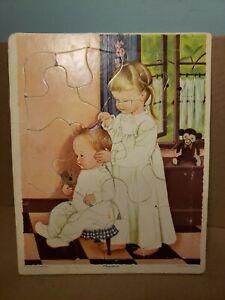 "Vintage Playskool Eloise Wilkin Little Golden Book Frame Tray Puzzle 10""×8"""