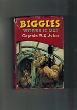 W. E. JOHNS  Biggles Works it Out - 1st ed 1951 in dustwrapper