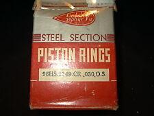 LINCOLN ZEPHYR FLATHEAD V-12  PISTON RINGS  96-HS-6149-CR .030 OS (2)