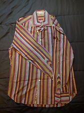 """Robert Graham Men's Dress Shirt L/S Button Down Striped 16"""" Collar 33/34"""" Sleeve"""