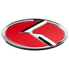 CHROME RED KIA K LARGE EMBLEM BADGE FOR TRUNK OR HOOD