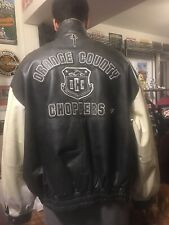 ORANGE COUNTY CHOPPERS 4XL MENS LEATHER 2-TONE CHOCOLATE JACKET HEAVY WEIGHT