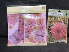 Tim Coffey Young Girl Scrap Kit Pink Floral Pages/Stickers w/Susan Winget Floral