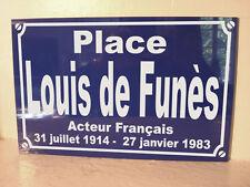 LOUIS DE FUNES plaque de rue objet collection pour fan déco originale cadeau