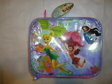 DISNEY FAIRIES TINKER BELL INSULATED SOFT LUNCH BAG TOTE NWT