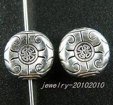 35pcs Tibetan Silver Beautiful Flat Spacers 12x4.5mm zn28933