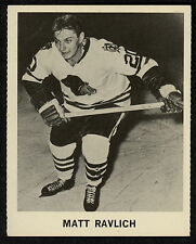 1965 COCA-COLA COKE MATT RAVLICH EX-NM CHICAGO BLACK HAWKS HOCKEY CARD FREE SHIP