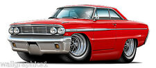 1964 Ford Galaxie 390 4V Wall Graphics Decals Stickers Removable Vinyl Car Art