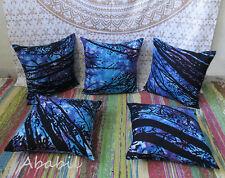 "5 Pcs. Set Of 16X16"" Indian Pillow Cushion Cover Bohemian Tie Dye Handmade Arts"
