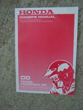 2000 Honda Trx90 Atv Fourtrax 90 Motorcycle Owner Manual Lots Of Atv Books! S