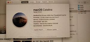 Macbook Pro 13in 2020 Model, CPU upgraded, 16GB RAM