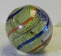#10920m Vintage German Handmade Onionskin Marble 1.45 Inches