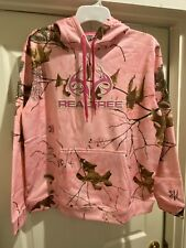 Womens NWT Realtree Girl Hannah Sweatshirt Hoodie Brown Floral Size M Medium