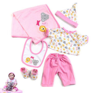 20 21 Inch Reborn Girl Baby Doll Clothing Set Sweater Denim Dress KYToy 22 Inch Reborn Doll Clothes Dresses Outfits Hat Accessories Fits 55cm New Born Baby Dolls