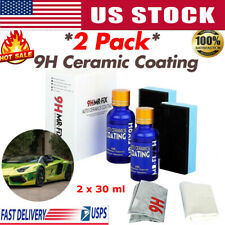 2-Pcs 9H Nano Ceramic Car Glass Coating Liquid Hydrophobic AntiScratch Auto Care